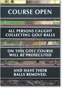 Golf Balls Removed Card