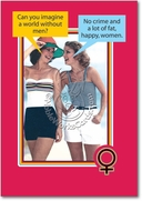 Fat Happy Women Card