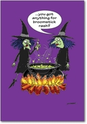 Broomstick Rash Card