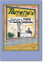 Tourettes Restaurant Card