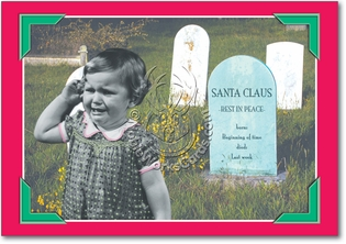 Santa Grave Set of 12 Funny Christmas Cards Pack of 12