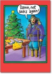 Peg Leg Socks Card