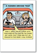 Modern Driving Test Card