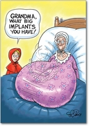 Grandmas Big Implants Card