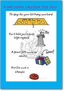 Birthday Limerick Card