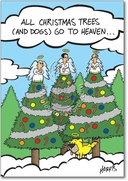 Christmas Dogs Heaven Card