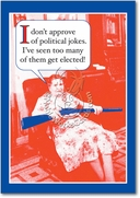 Political Jokes Card