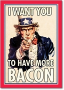 Uncle Sam Bacon Card