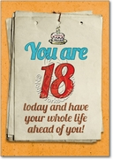 You are 18 Bitch Card