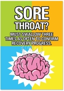 Sore Throat Must Swallow Card