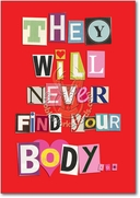 Never Find Your Body Card