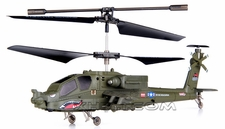 Syma S109G 3-Channel RC Indoor Mini Co-Axial Infared AH-64 Apache RC Helicopter w/ Built in Gyro (Green)