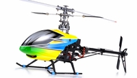 Dynam 6-Ch 2.4Ghz Carbon Fiber E-Razor 450-3D Metal RC Helicopter RTF w/ Direct-Belt-Drive, 6CH Fully-Loaded Radio System, Lipo Battery, Brushless Motor+ESC