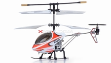 3 Channel Mini Indoor Infrared Phoenix Metal RC Helicopter w/ Built in Gyro (Red) 6010A-4-Red