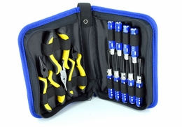 12 Pcs RC Tool Kit w/ Handy Case EXI-642-ToolCaseKit