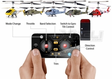 Syma/UDI iPhone/Android RC Controller for Syma S107G, S111G, S109G, S108G, S102G RC Helicopters