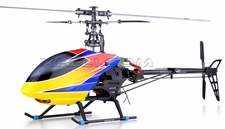 6-CH Dynam E-Razor 450-Metal Direct-Belt-Driven Brushless 3D RC Helicopter Fully-Loaded Ready-to-Fly (2.4G-Red)