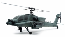 AH64 Apache 450 Pre-Painted Glass Fiber Fuselage for 450 size Helicopters w/ Tail Extension & Magnets (Army)