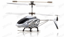 Syma 3 Channel S107G Mini Metal Indoor Co-Axial  RC Helicopter w/ Gyro (White)