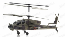GunShip Focus 3396 Co-Axial 3.5 Channel RC Helicopter RTF + Built in Gyro (Green)