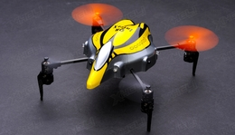 Walkera Infra X RC Drones 4 Channel Quadcopter Ready to Fly w/ Devo 4 2.4Ghz (Yellow)