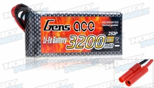 Gens Ace 3200mAh 1C 6.6v LiFe- lithium phosphate Battery