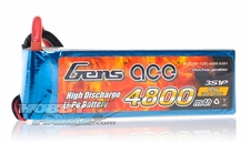 Gens ace LIPO Battery  4800mAh 60-120C 11.1V