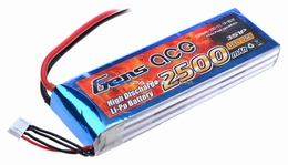 Gens ace 2500mah 3S1P 11.1V 25C Lipo battery pack