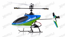 Hero RC 4CH RC Helicopter H995 2.4GHz Single-Propeller Fixed Pitch with Gyro  (Green)