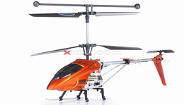Syma S006G Alloy Shark RC Remote Control Metal Frame Helicopter w/ Gyroscope (Orange)