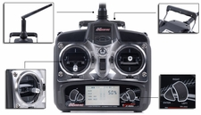 Exceed RC 2.4Ghz 4 Channel Radio Control Spread Spectrum Transmitter w/ LCD Monitor for Exceed RC Helicopters ExceedRC-24Ghz-4CH-TX-LCD-2402