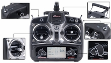 Exceed RC 2.4Ghz 6 Channel Radio Control Spread Spectrum Transmitter w/ LCD Monitor Replacement for Exceed RC Helicopters