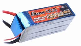 Gens ace 2600mah 6S1P 22.2V 25C Lipo battery pack