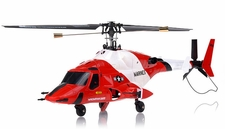 Exceed RC 4 Channel MadHawk 300 RC Helicopter w/ 2.4 GHz 2402D Devo Transmitter (Red)
