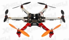 AeroSky 550 Drone RC 6 Channel Hexacopter Almost Ready to Fly (Red)