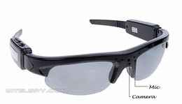Sunglass Shade Video Eyewear Spy Video Recorder/MP3 Player w/ Built in 2GB Memory