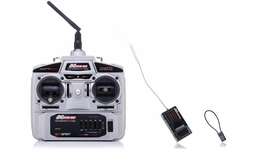 Exceed RC 2.4Ghz 4 Channel Transmitter + 6Ch Receiver Complete Radio System for RC Helicopters + Airplanes ExceedRC-24Ghz-TX-RX-Set