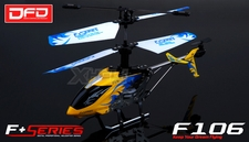 F106 4CH Infared RC Helicopter NEW with Gyro Radio Remote Control Mini Size (Yellow)