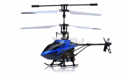 Mingji F-Series 503 RC Helicopter 4 Channel 2.4Ghz RTF + Transmitter (Blue)