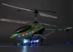 "Huge 30"" 3 Channel Electric RTF T-Smart Helicopter w/ Flashing Tail, Missile LED Lights (Green)"