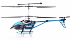 3 CH Hero Black Hawk Alloy Aluminum RC Electric Helicopter RTF w/ Flashing LED Night Lights Aluminum Blue Version