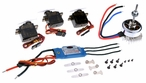 Dynam Brushless motor+18A ESC+3pcs 9g servos for RC Park Flyer 60P-DY-1006