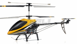 "Double Horse 9101 Huge 27"" 3-Channel Co-Axial   Helicopter w/ Built in Gyro 450 Sized  (Yellow) RC Remote Control Radio"