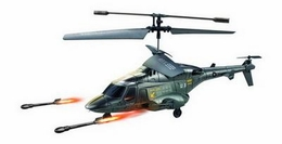 3.5 Channel U810 Fighter RC Gyro Control Helicopter w/ Launching Missiles