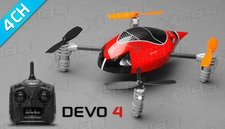 ExceedRC Ladybird V2 Devo 4 Ready to Fly RC Mini Quad Drones 4 Channel (Red)