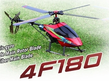 2.4Ghz Walkera 4F180 4 Bladed Carbon Fiber Brushless Helicopter w/ Aluminum Rotor Head & LCD Transmitter