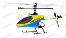 Hero RC 4CH RC Helicopter H995 2.4GHz Single-Propeller Fixed Pitch with Gyro  (Yellow)