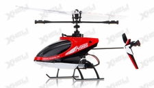 Hero RC 4CH RC Helicopter H995 2.4GHz Single-Propeller Fixed Pitch with Gyro  (Red)