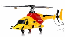 Exceed RC 4 Channel MadHawk 300 RC Helicopter w/ 2.4 GHz 2402D Devo Transmitter (Yellow)