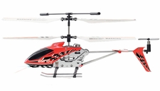 Hero RC Gyro Star S107 3 Channel Mini Indoor Co-Axial Metal RC Helicopter w/ Built in Gyroscope (Red)
